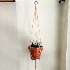 macrame plant hanger vintage