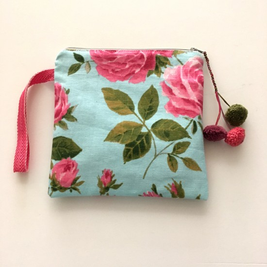 pouch bag roses
