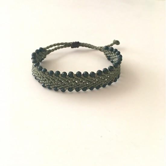 beaded chevron macrame bracelet