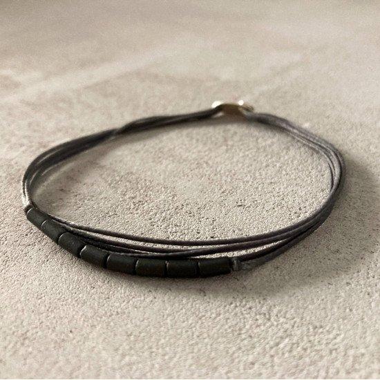 black tubes bracelet