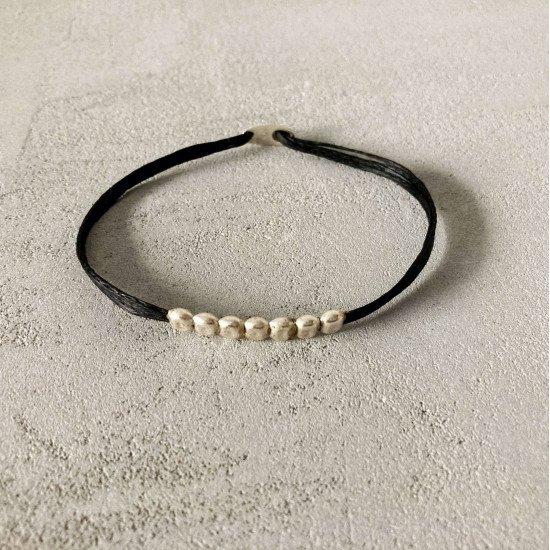 silver beans bracelet