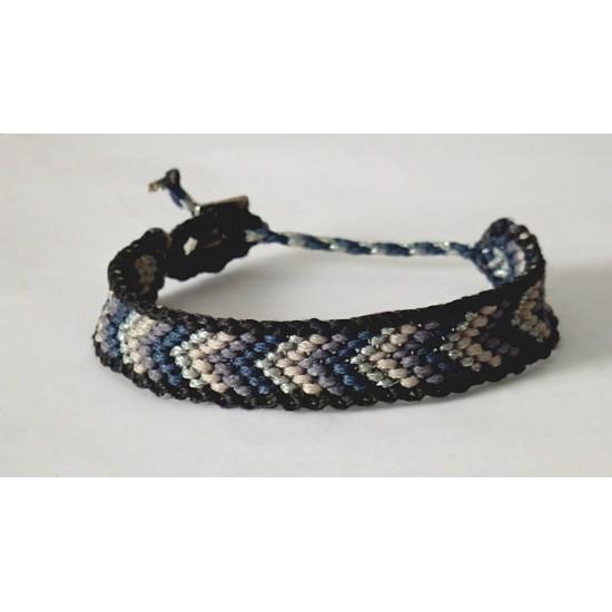 chevron macrame bracelet