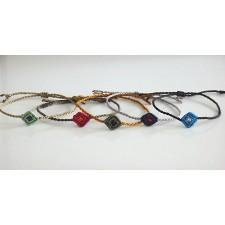 macrame bracelet litlle diamond