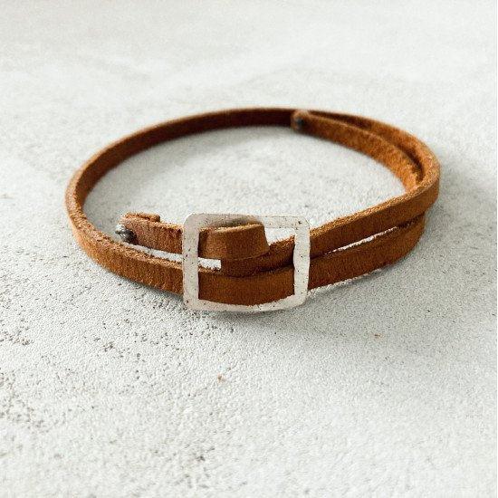 leather belt bracelet