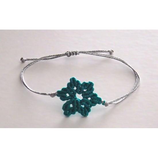 lotus flower macrame bracelet