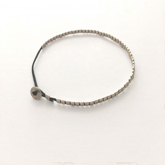 silver squares bracelet