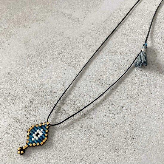 beaded eye necklace