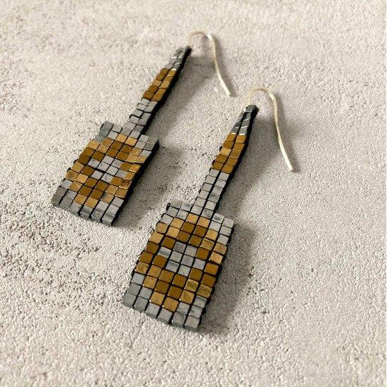 geometry beaded earrings